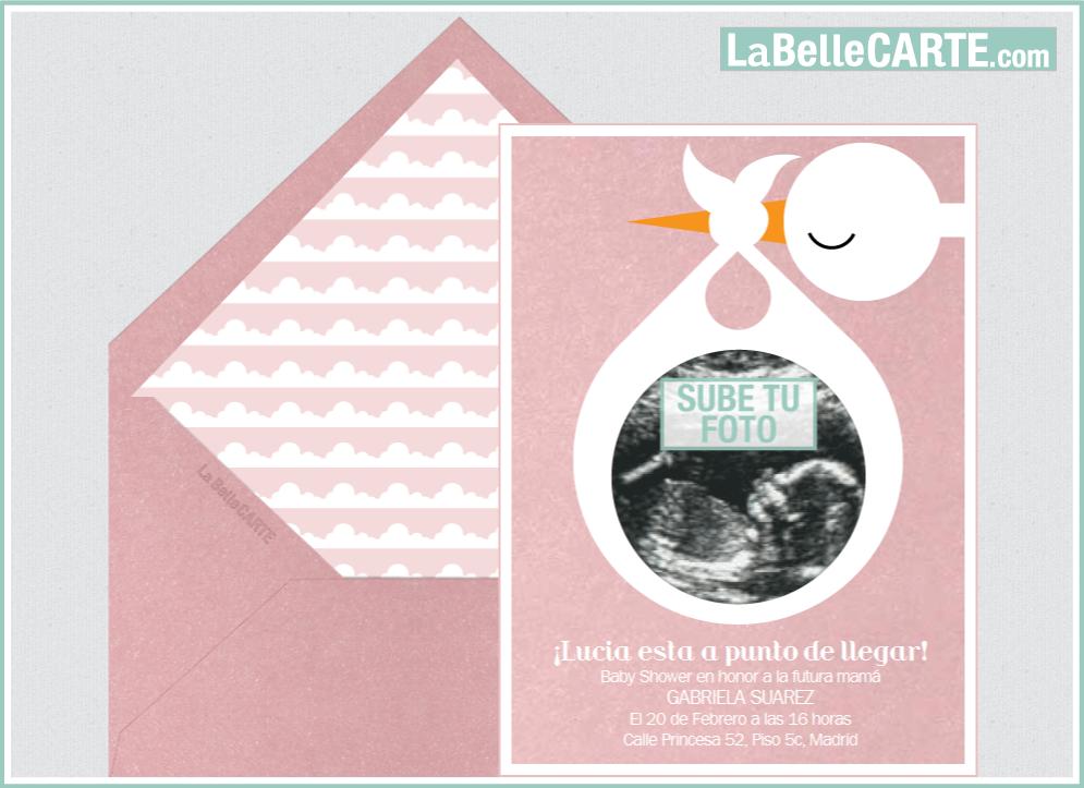 Baby Shower Invitaciones Originales ~ Invitaciones para baby shower bebe animales ciguenas