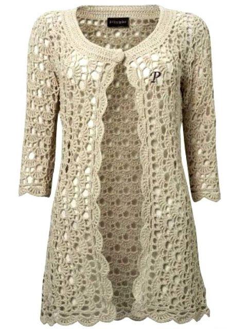 Learn Step By Step How To Crochet Jacket Yarn Crochet Free Ropa Crochet Ropa Vestidos Tejidos A Crochet