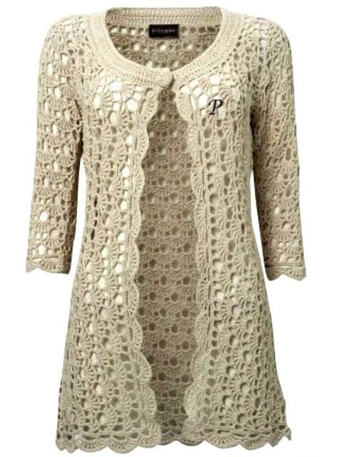 Beautiful coat of crochet ~ YARN CROCHET