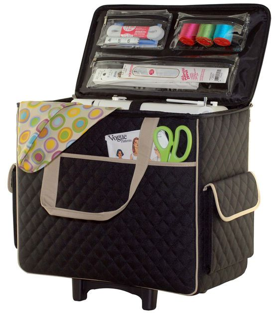 Basic Rolling Sewing Machine Tote Things I Want Sewing Sewing Stunning Joann Rolling Sewing Machine Tote
