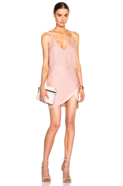 Mason by Michelle Mason Contrast Slip Dress in Blush | FWRD