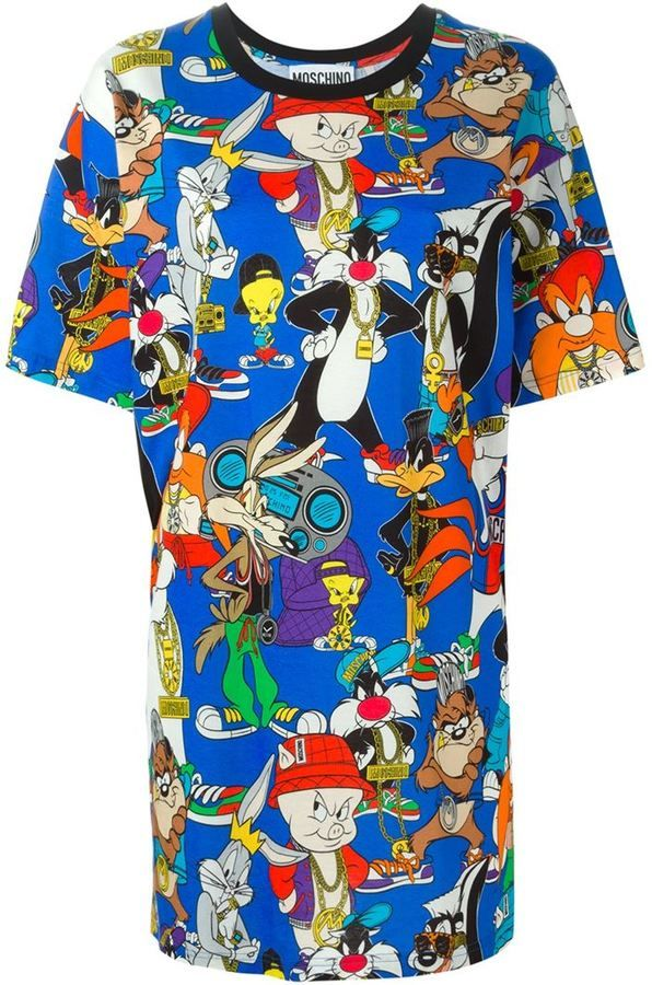 e1e9b87b Moschino Looney Tunes T-shirt dress | Things to Wear | Moschino ...