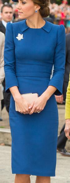 Jenny Packham Blue Collared Dress