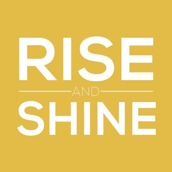 Rise and shine inspirational quote word art print motivational poster black white motivationmonday minimalist shabby chic fashion inspo typographic wall decor