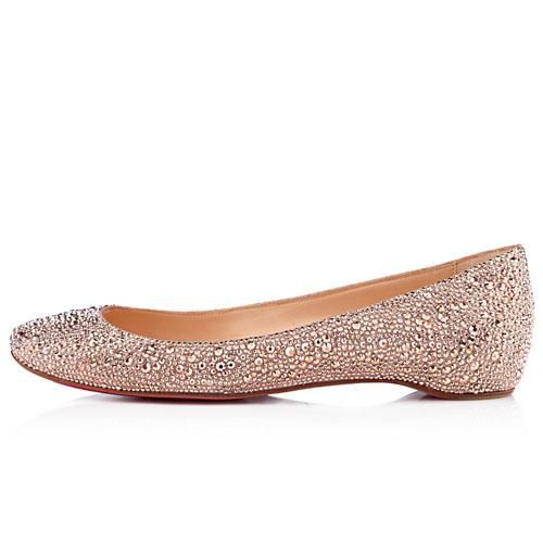Christian Louboutin Gozul Strass Souliers Compenses Nude [Christian  Louboutin L977686]