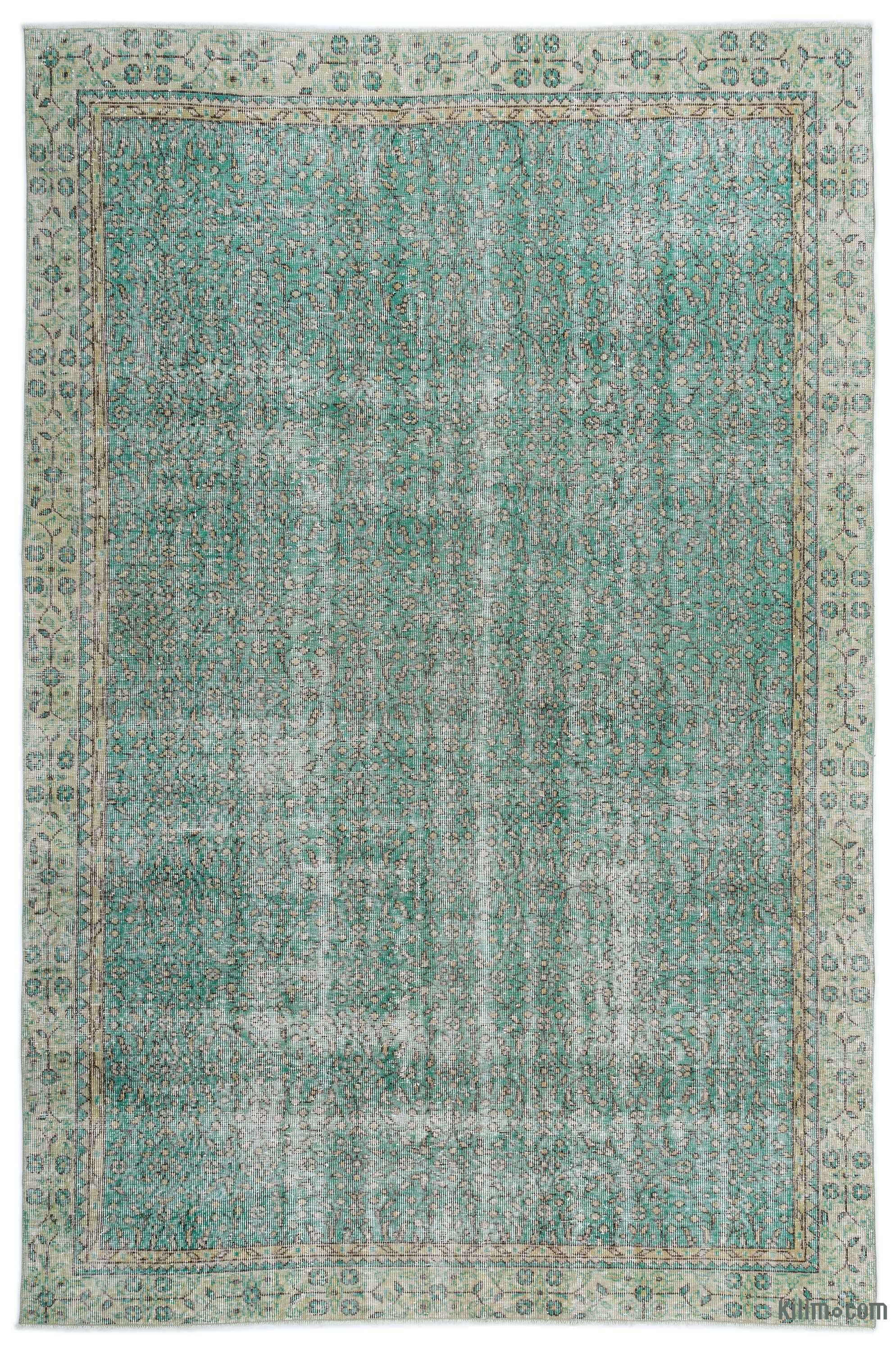 Turkish Vintage Area Rug 6 6 X 9 9 78 In X 117 In