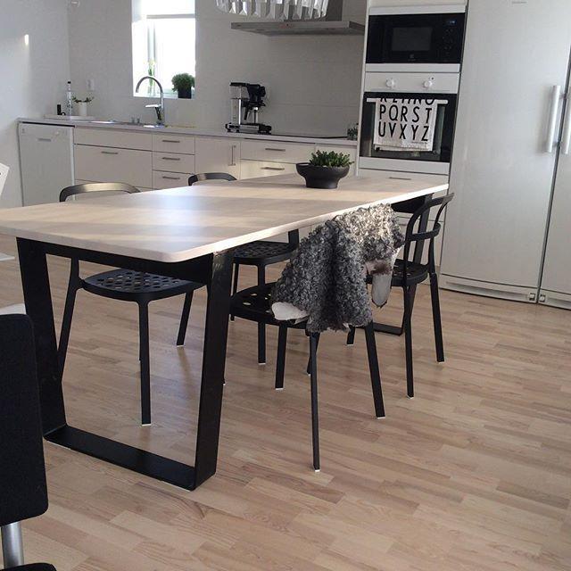 Ikea Kitchen Bench Uk: Älskar Vårt Nya Köksbord ϸ� #Ikea #norråker #kök