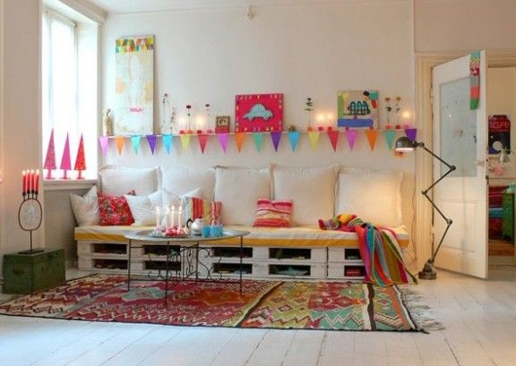 kinderzimmer gestalten mit sofa aus europaletten   DIY   Pinterest ...