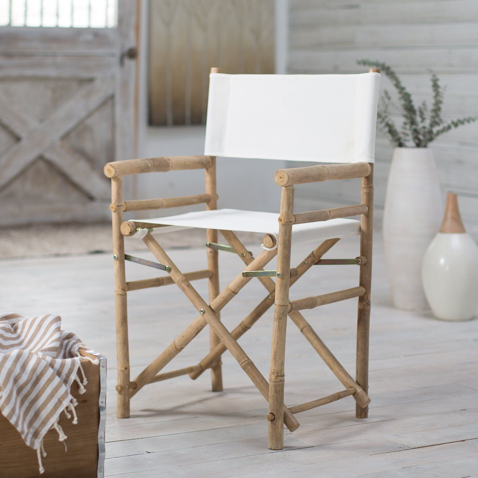 Have To Have It Bamboo 18 Inch Standard Height Directors Chairs With Solid Cover 64 99 Hayneedle Indoor Bamboo Directors Chair Furniture