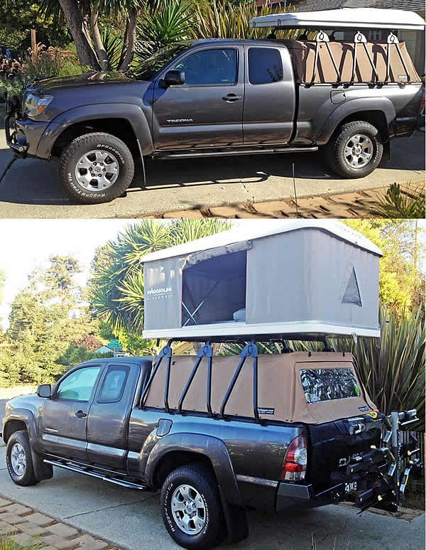 The Truck Cap Rack Mounts Without Drilling And Has The Worldu0027s Easiest  Install. Fits Any Truck With Any Common Camper Shell Cap.