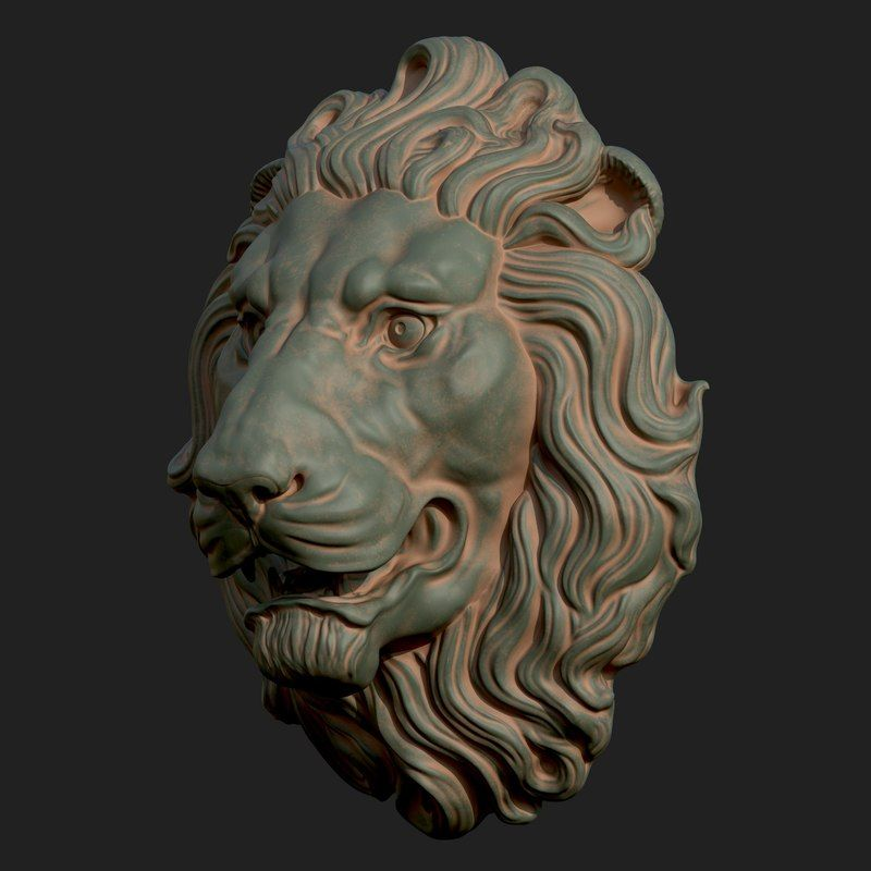 Lion Head 3d Model Sculpture Elephant Art Lion Art