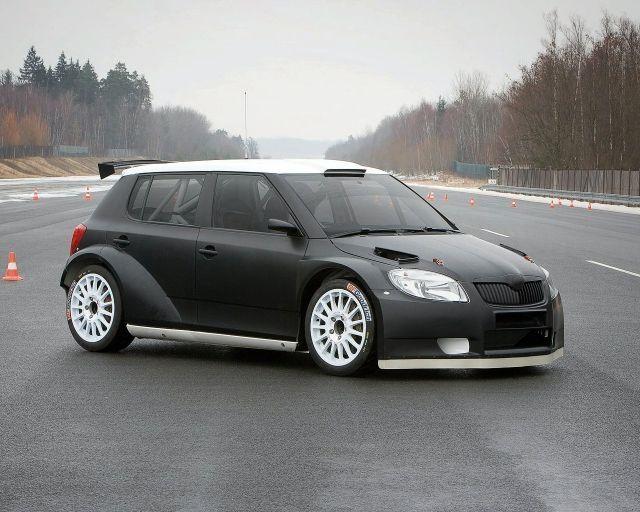 2008 Skoda Fabia Super 2000 Rally Car Testing