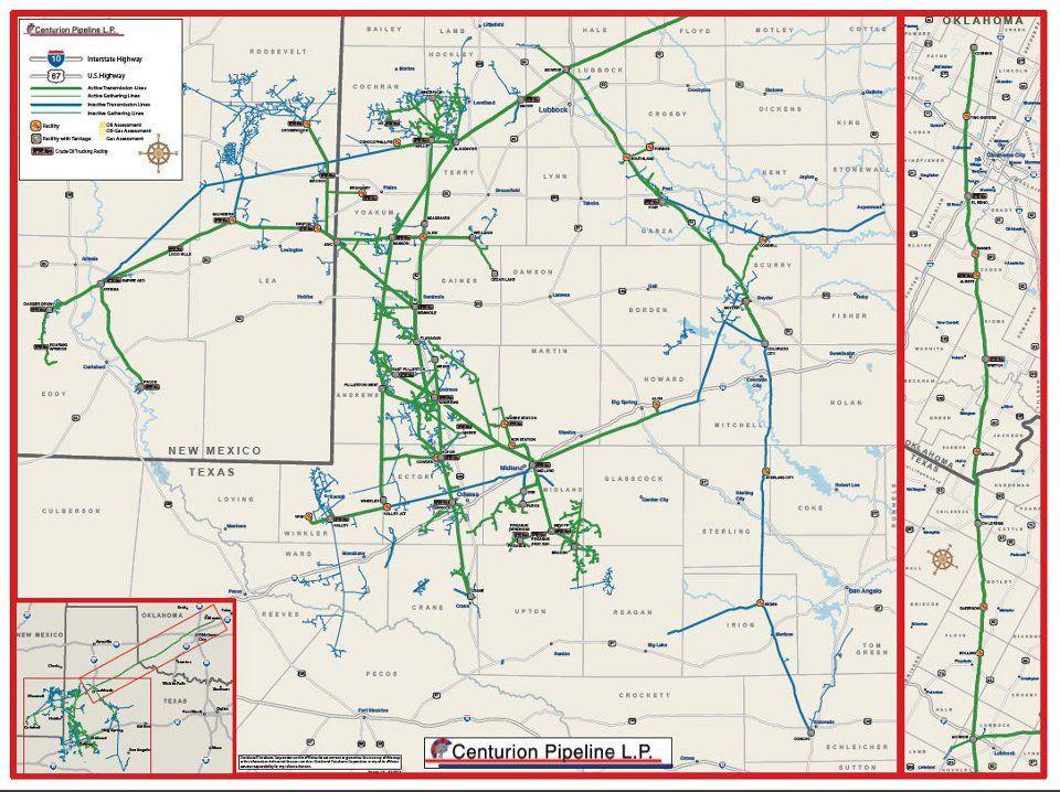 Centurion Pipeline LP Map Pipeline Pinterest