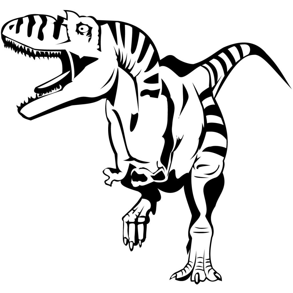 Real looking dinosaur coloring pages - Realistic Dinosaur Coloring Pages 4