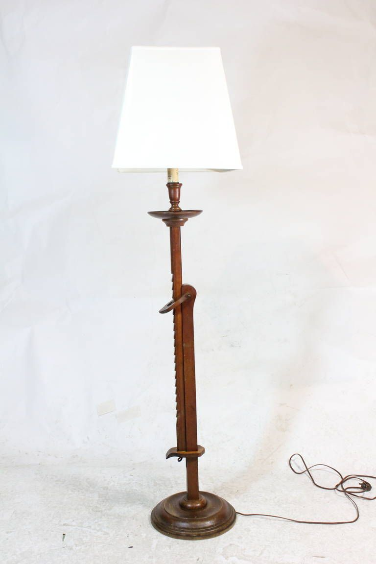 1940s Frances Elkins Prototype Mahogany Adjustable Ratchet Floor Lamp 1stdibs Com Vintage Floor Lamp Floor Lamp Shop Floor Lamps