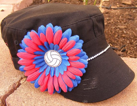 Volleyball Mom Cadet Hat Done In Your Teams Colors With Images Mom Hats