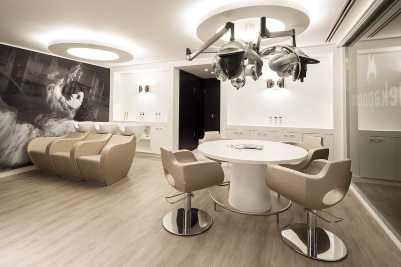 Mobiliario de peluquria y salones de belleza gamma for Iluminacion para peluquerias
