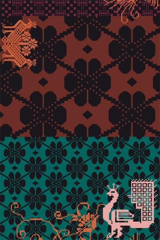 textile tapis sardinian patricia urquiola design espagnol pour moroso motifs folkloriques. Black Bedroom Furniture Sets. Home Design Ideas