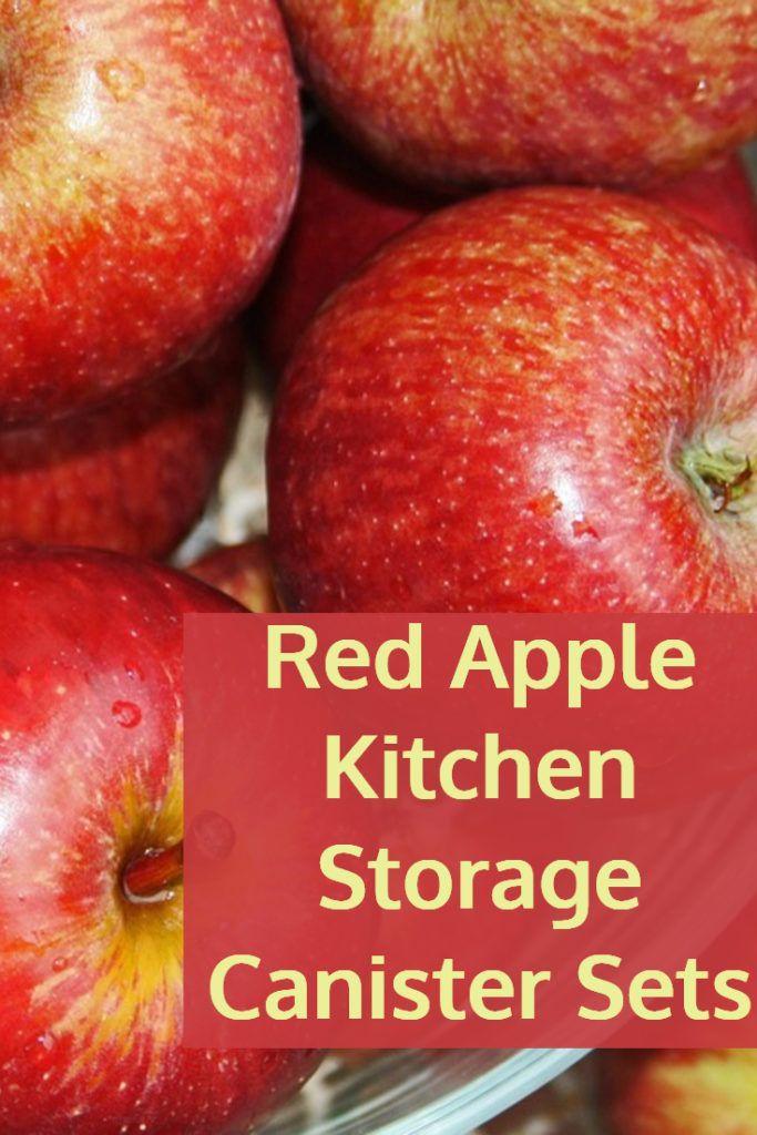 Red Apple Design Kitchen Storage Canisters Apple Kitchen Decor