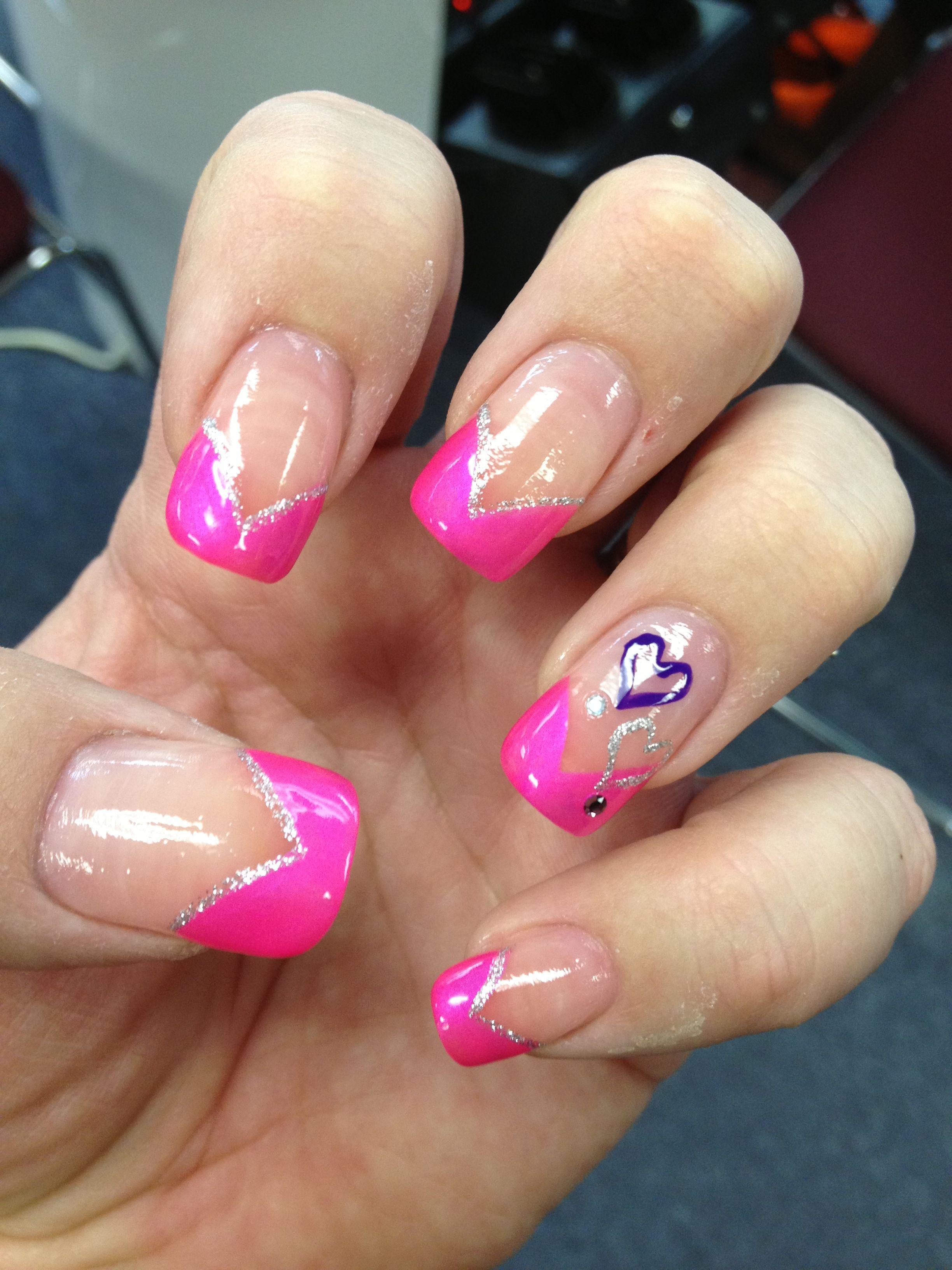 Valentines Nails Nail Art. Art Holiday Design