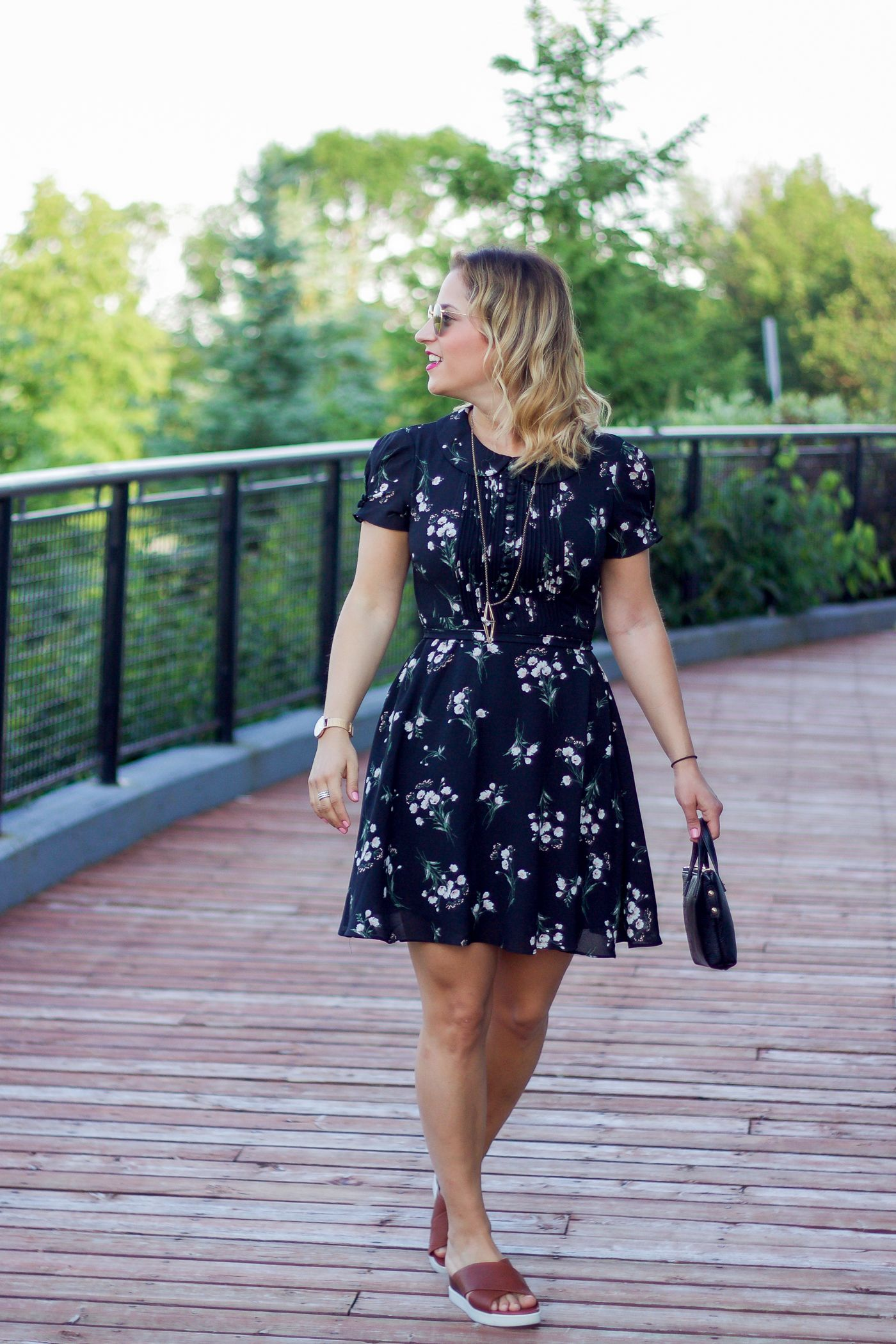 Black Floral Dress Summer Outfit Idea Something About That Floral Dress Summer Floral Dress Outfit Summer Street Style Summer Outfits [ 2100 x 1400 Pixel ]