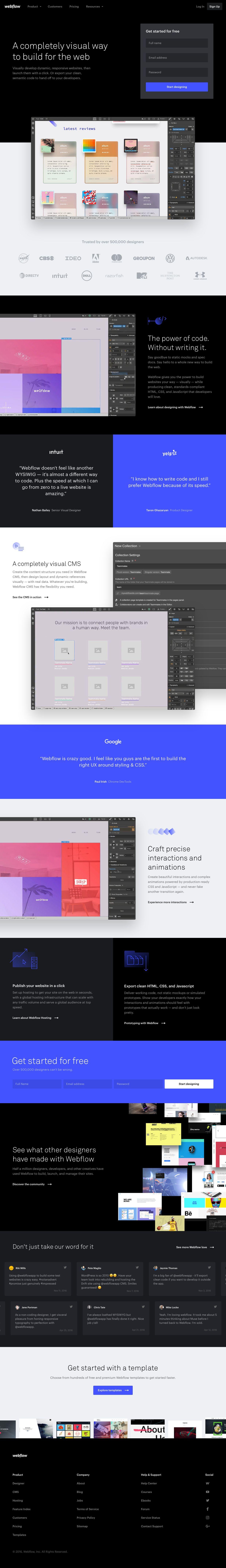 Webflow landing page design inspiration | Lapa Ninja - The