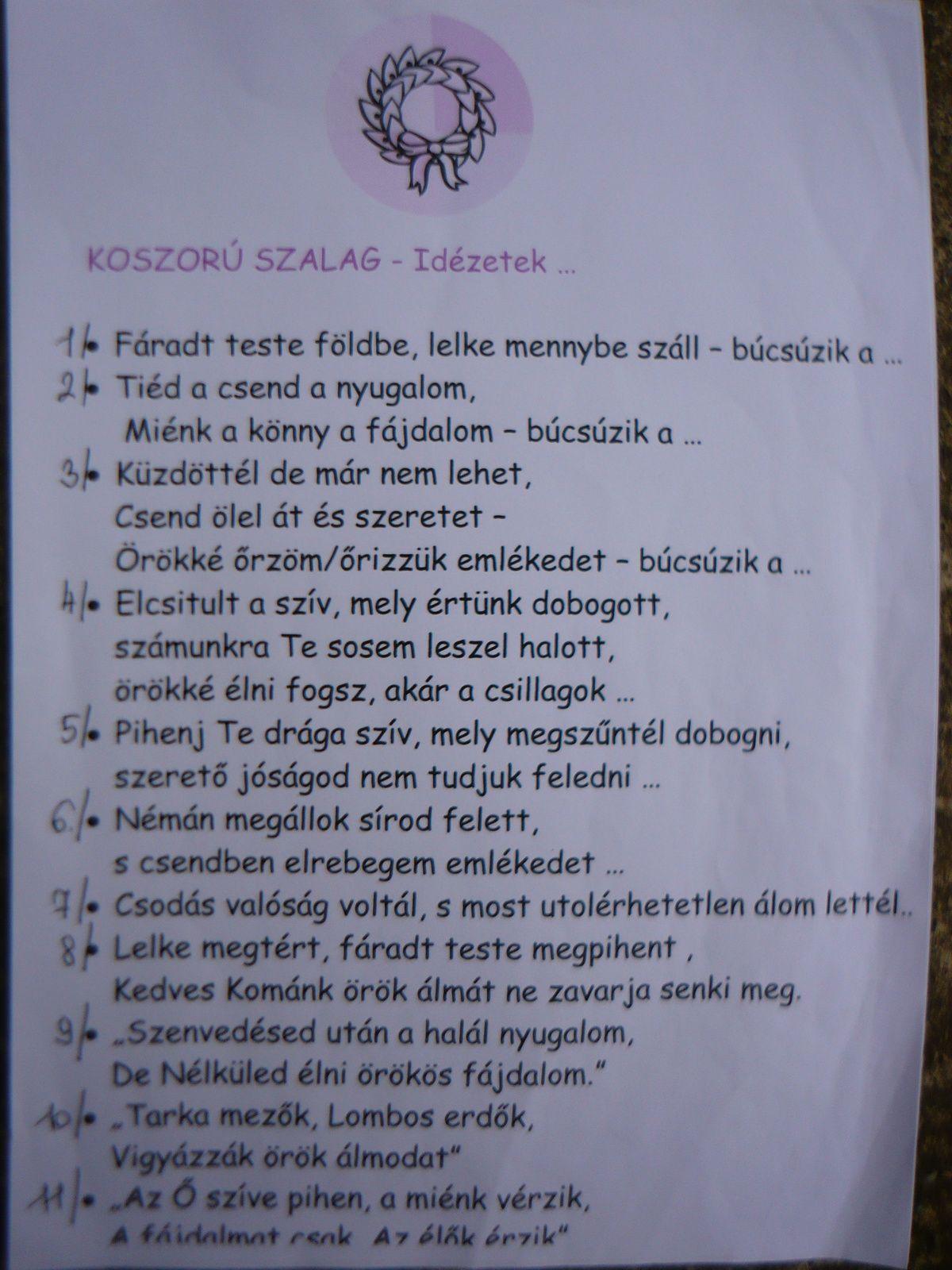 temetési szalagra idézetek Jusztina képe. | Personalized items, Person, Receipt