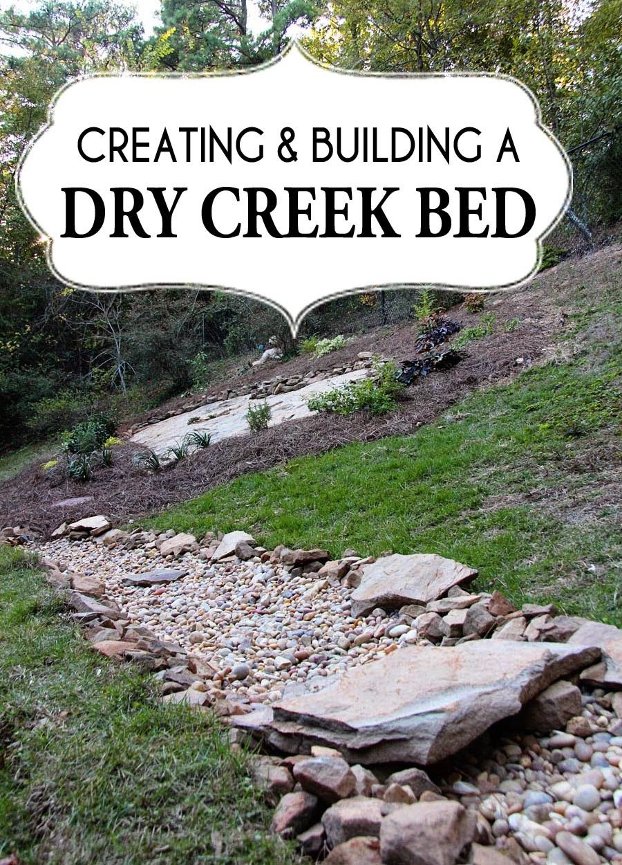 paper daisy designs a dry creek bed for beauty and drainage