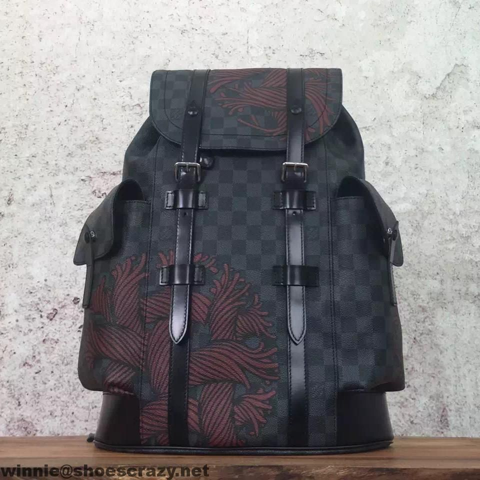 79128c68a56 Louis Vuitton Rope Damier Graphite Canvas Christopher Backpack PM ...