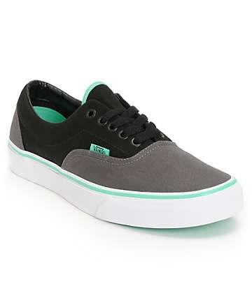 new arrival 6a96d 6e417 Vans Era Charcoal, Black,   Mint Green Skate Shoes (Mens)