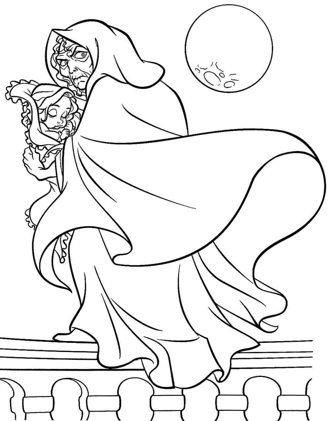 Princess coloring pages tangled