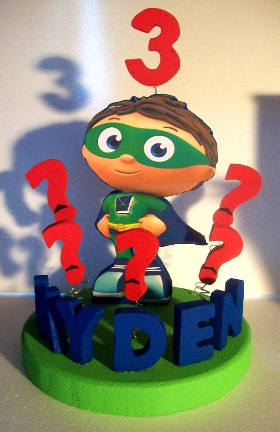 super why birthday cake toppers