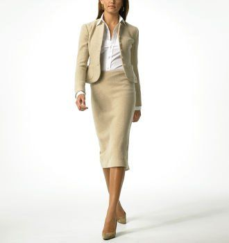 Pencil Skirt Suit - beige can be beautiful ;)