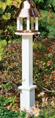 """Dove Post - 5 1/2 """" sq. vinyl post with boxed base, painted white. 84"""" overall length."""