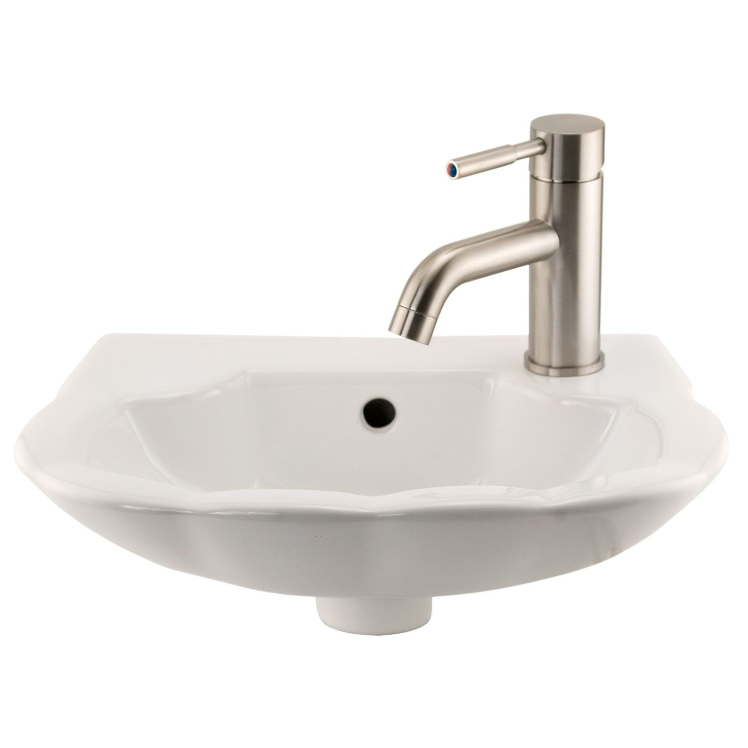 Herriot Petite Wall-Mount Sink - Single Faucet Hole on Right Side ...