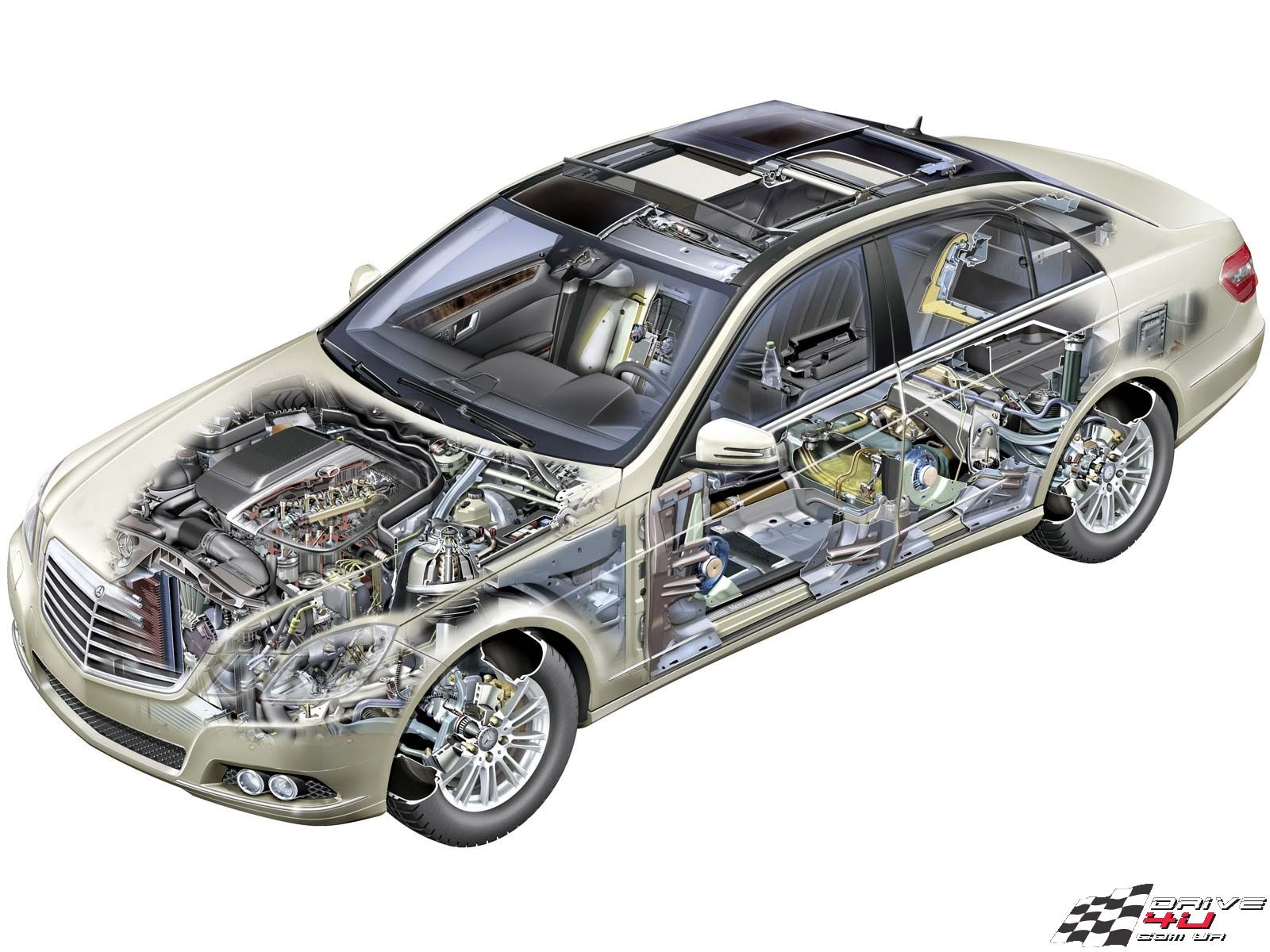 Structure of MercedesBenz W212
