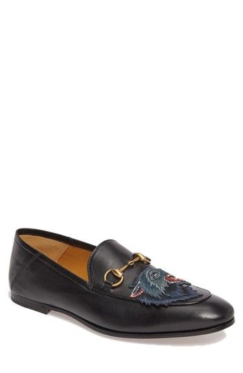 Gucci Men's Brixton Angry Wolf Convertible Bit Loafer
