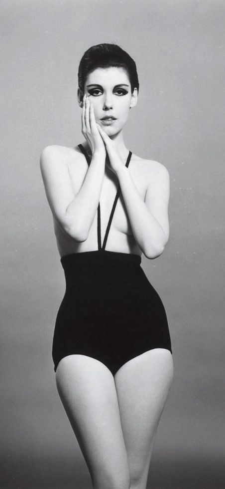 Made in LA: Rudy Gernreich's infamous Topless bathing suit modeled by Peggy Moffitt and photographed by William Claxton (her husband). 1964.