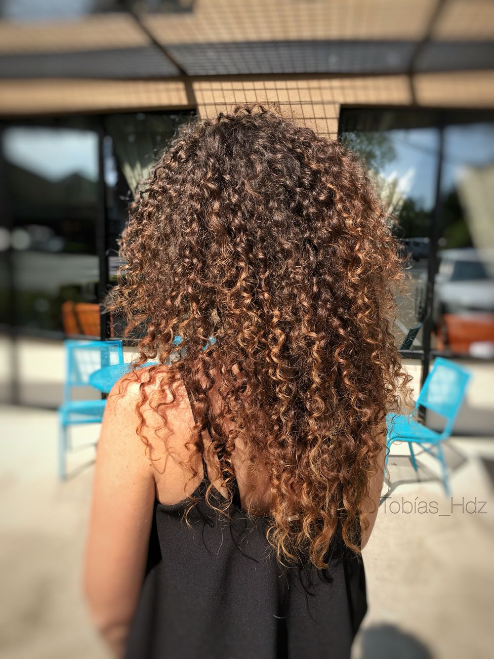 Sunkissed Balayage Curly Hair Layers Schwarkopf Color Curly