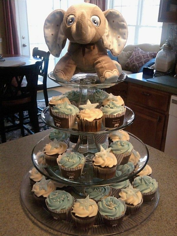 Elephant As Cupcake Stand Top Peanut Baby Shower Baby Shower