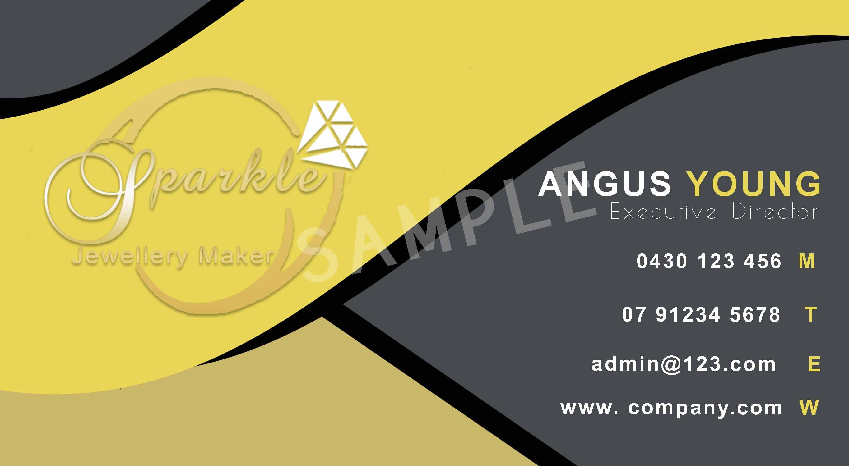 Business Card Sample No 9 For Sale – Business Card Sample