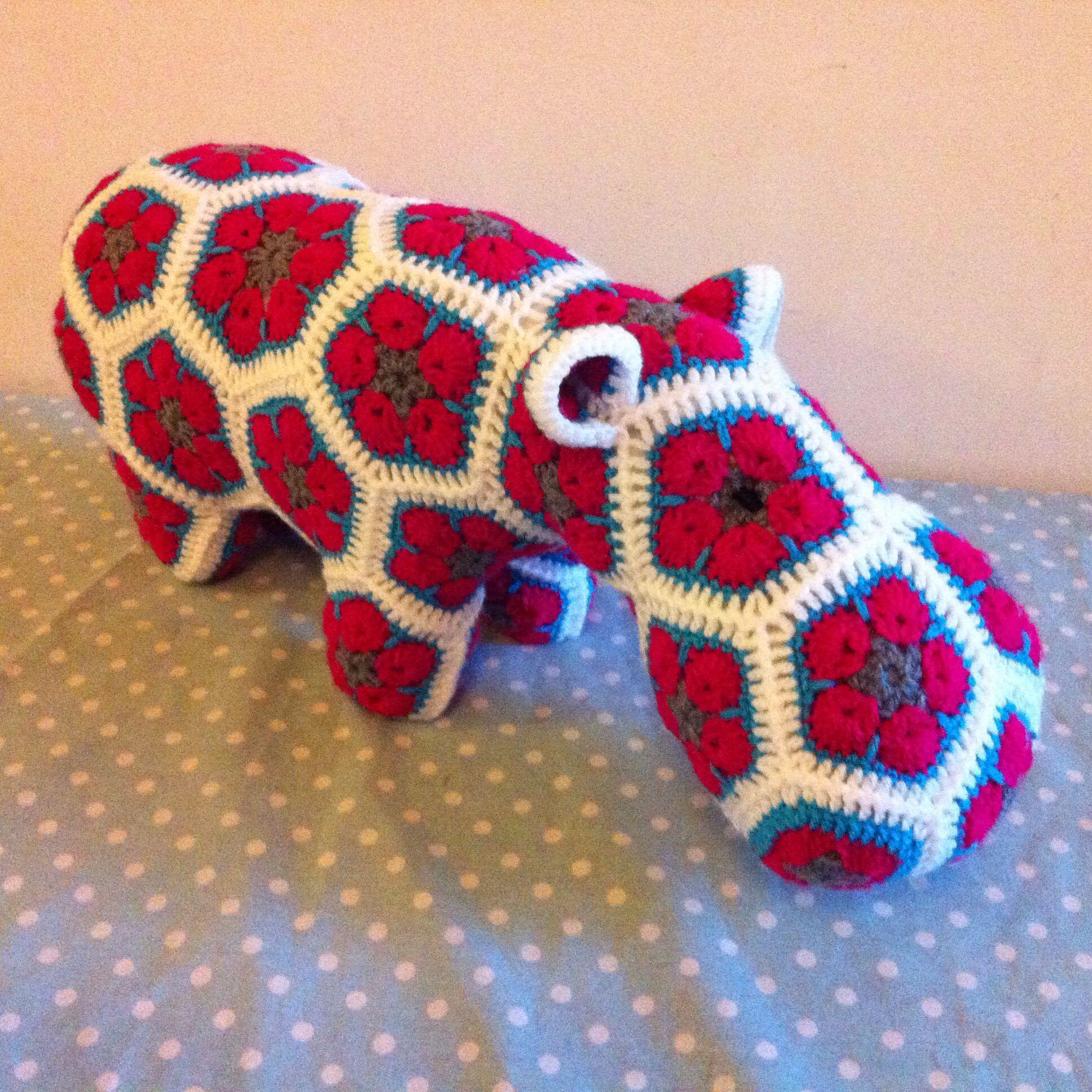 Crochet hippo - Happypotamus pattern by Heidibears | virkattu hippo ...