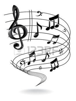 Cle De Sol Arriere Plan Avec Note De Musique Note De Musique