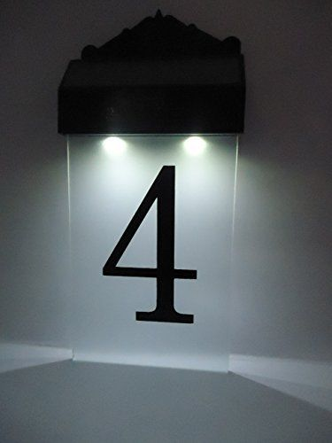 flurida solar powered led house number wall light light fixtures pinterest solar number. Black Bedroom Furniture Sets. Home Design Ideas