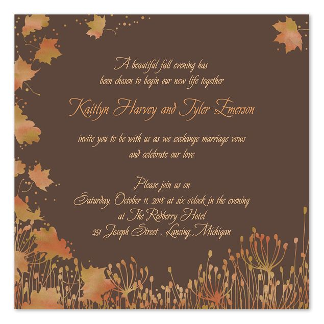 Evening Fall Breeze Wedding Invitations By Invitation Consultants Ic Gd Nt