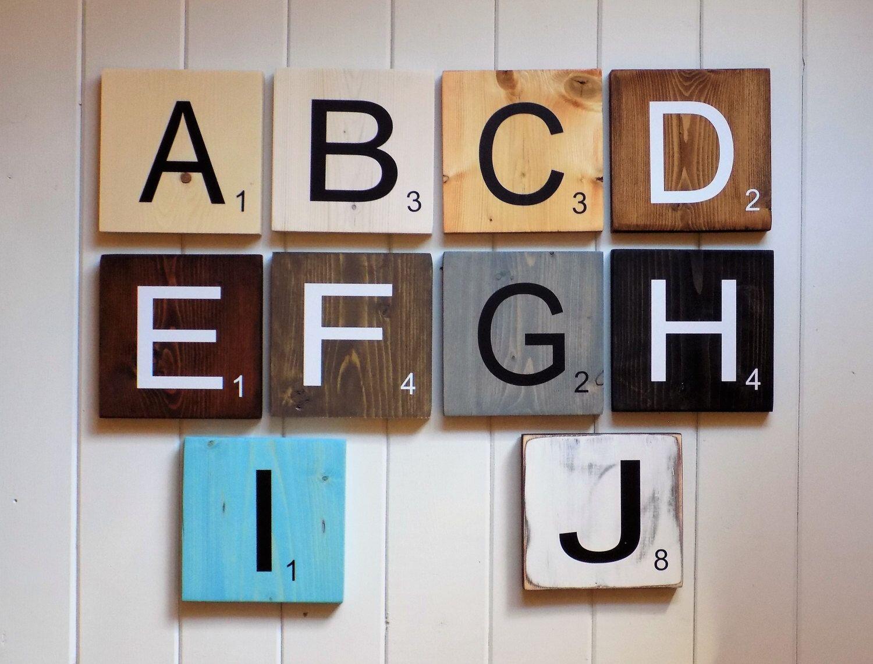 Large Scrabble Letter Tiles Wall Art