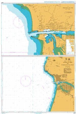 British Admiralty Nautical Chart Portugal West Coast - Portugal map west coast