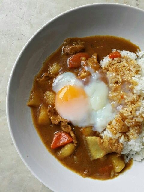 Pork Curry with onsen egg #curry #Food #homemade