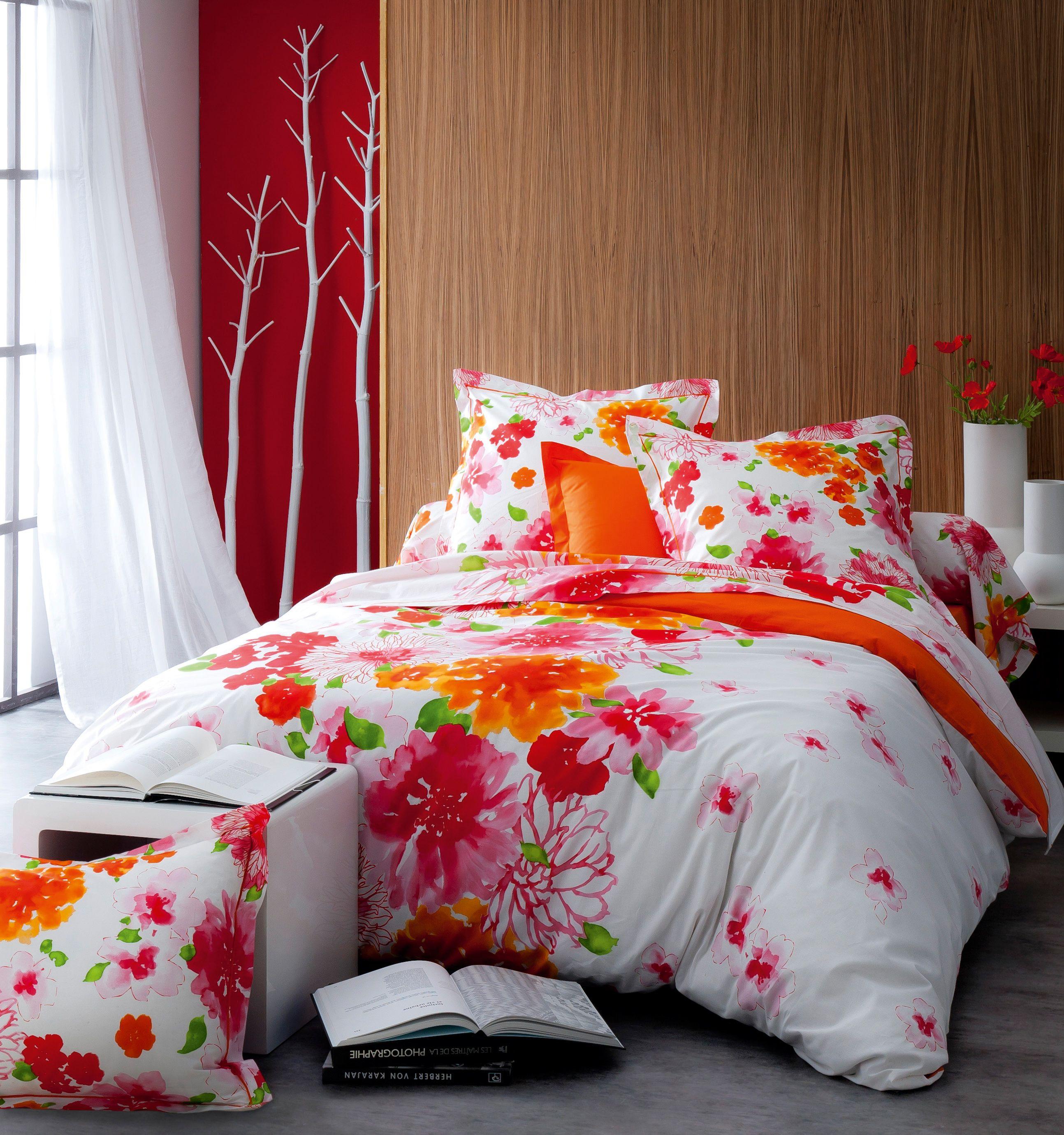 optez pour cette parure de lit nina en 100 coton 57 fils cm de fabrication fran aise le. Black Bedroom Furniture Sets. Home Design Ideas