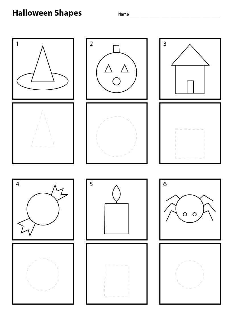 Halloween Shapes For Pre K Art Projects For Kids Shapes Worksheet Kindergarten Halloween Worksheets Shapes Worksheets [ 1103 x 822 Pixel ]
